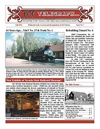 Virginia & Truckee Railroad Historical Society newsletter, V&T Telegraph, Issue 7, Fall, 2011