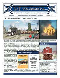 Virginia & Truckee Railroad Historical Society newsletter, V&T Telegraph, Issue 8, Winter 2011
