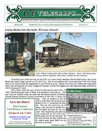 Virginia & Truckee Railroad Historical Society newsletter, V&T Telegraph, Issue 9, Spring 2012